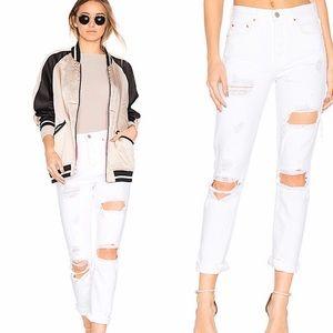 GRLFRND Karolina HighRise Skinny Distressed Jeans